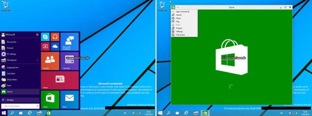 これがWindows 9の新スタートメニュー…だ?