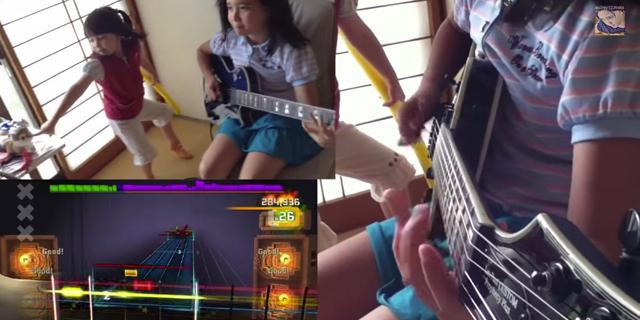 10歳の少女がB'zの「ギリギリChop」を弾きこなす! ソロもバッチリ