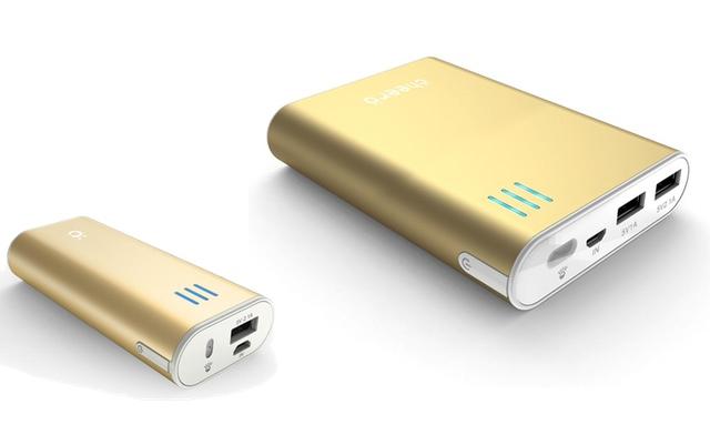 iPhone5sゴールドと同系色のモバイルバッテリーが登場。Amazonで個数限定割引販売!