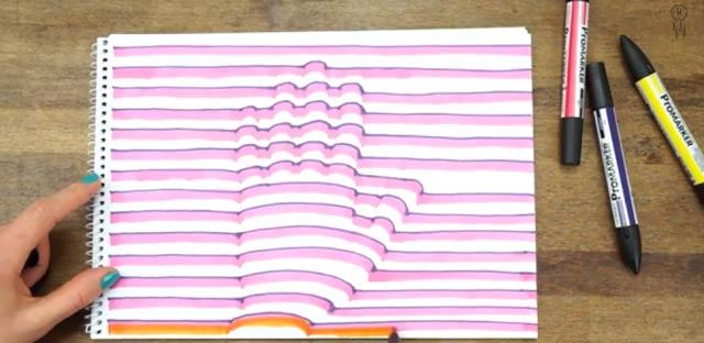 とっても楽しく簡単に「立体的な手」を描く方法(動画)