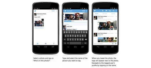 Twitterに新機能! 1ツイートに4写真、写真にタグ付けが可能に