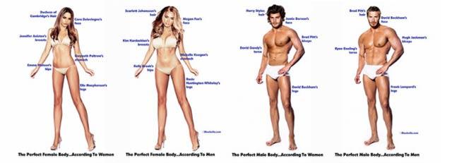 男女別理想の体型。男と女には「理想」のズレがあった