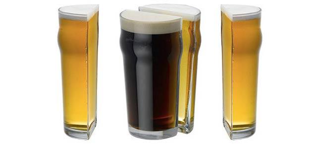 ビールコップ半分くださいと言ったら、思わぬ方向に半分だった