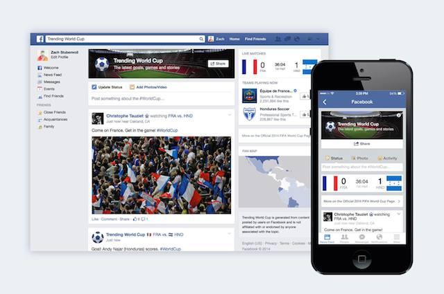 フェイスブック、ワールドカップに合わせて「トレンディングワールドカップ」発表
