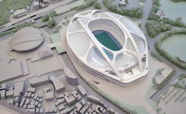 「新国立競技場」の基本設計がまとまり、規模縮小版の模型も公開!