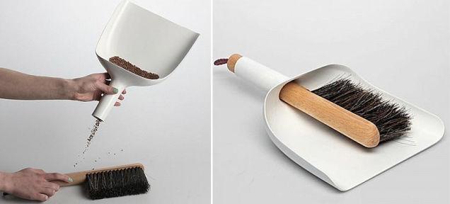 よくあるデザインにひと工夫加えるだけで、ゴミを集めやすいチリトリへ