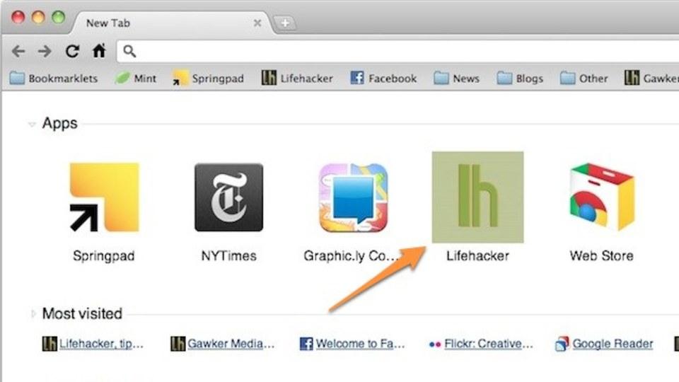 Chromeの新規タブページにカスタムウェブアプリを追加!