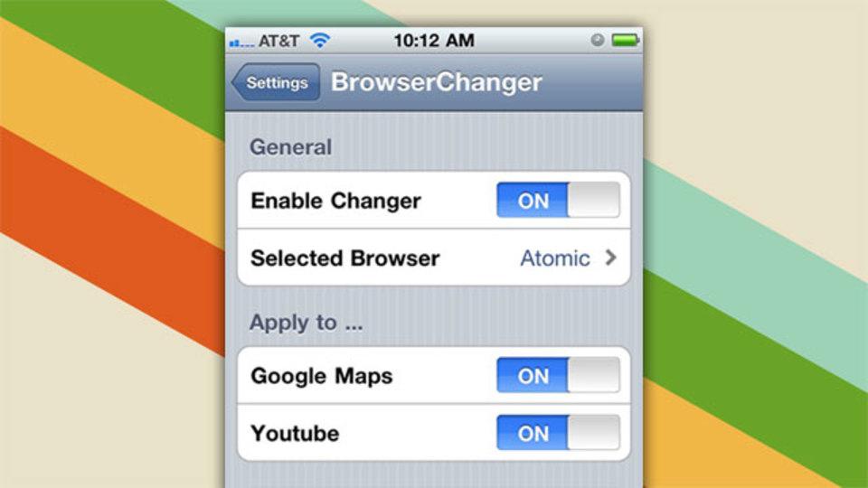 「Browser Changer」を使えば、脱獄したiOSデバイスでSafari以外のブラウザをデフォルトに設定可能!