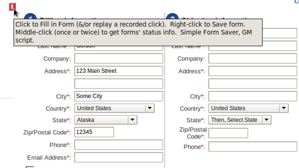 ユーザスクリプトを使ってウェブフォームに一度入力した情報を保存