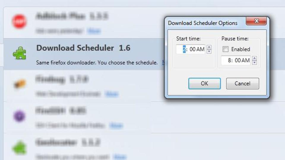 あとでダウンロードしたいときに役立つFirefoxアドオン「Download Scheduler」