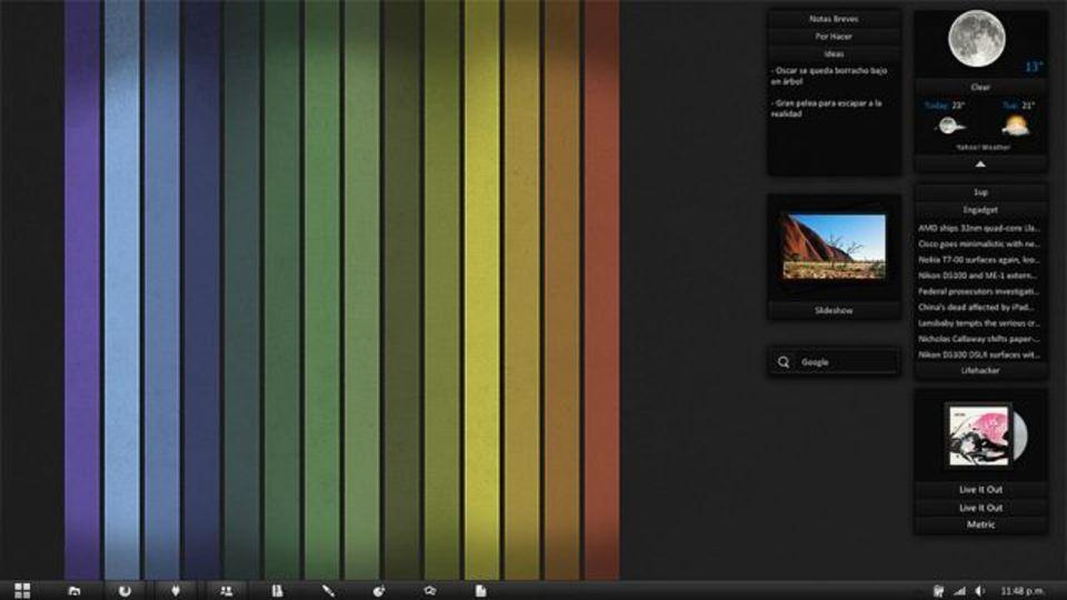 虹色の滝デスクトップ~究極のデスクトップを求めて