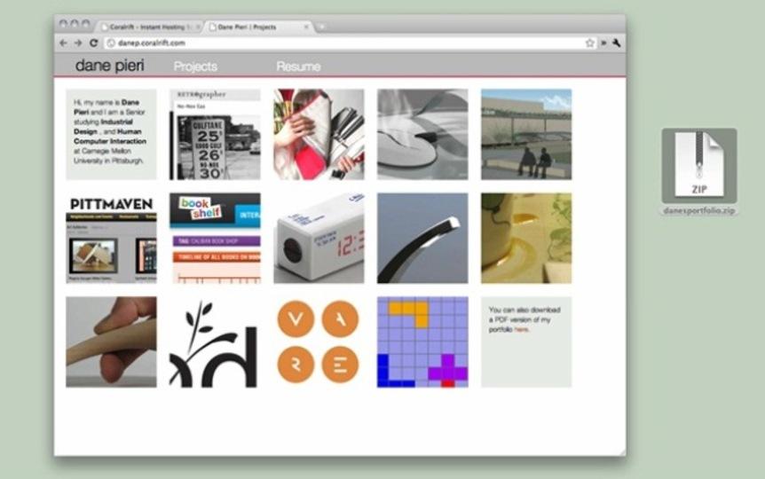 「Coralrift」は圧倒的に簡単に使えるウェブホスト!