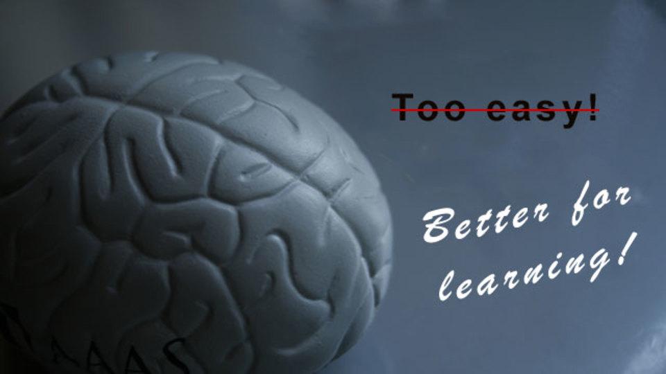 多少ハードルがあった方が学習効果が高くなるという研究結果