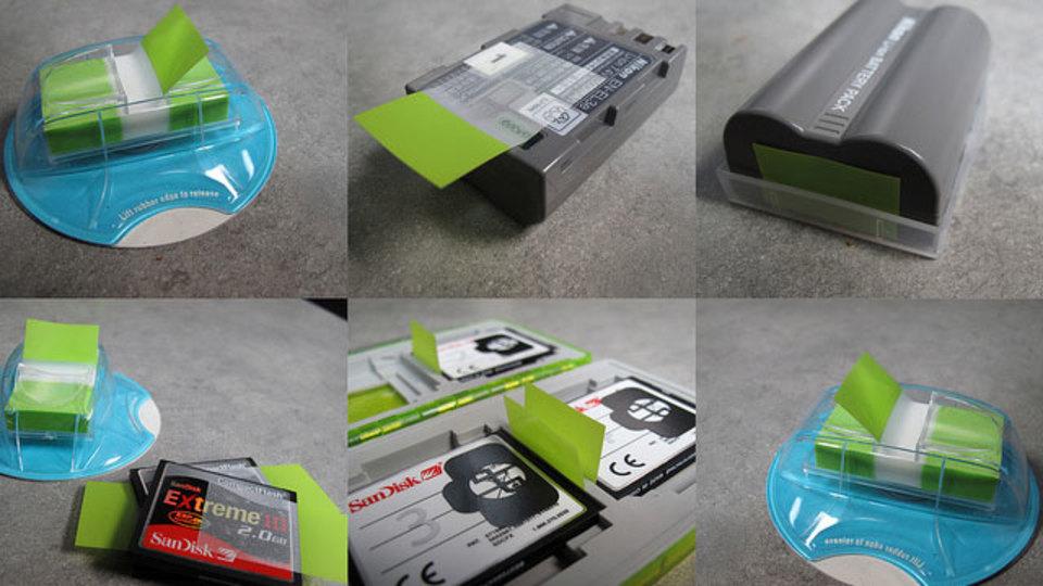 充電済みのバッテリーに目印を付けておくシンプルで便利なアイデア