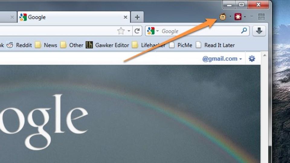 Firefoxツールバーアイコンをタブバーに移動できる?