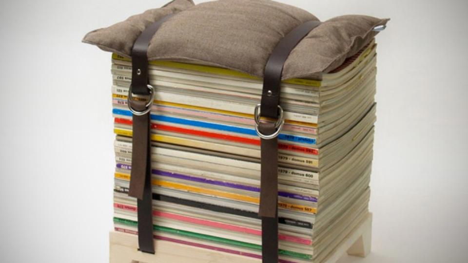 溜まった雑誌類が椅子になる!? 「Hockenheimer」