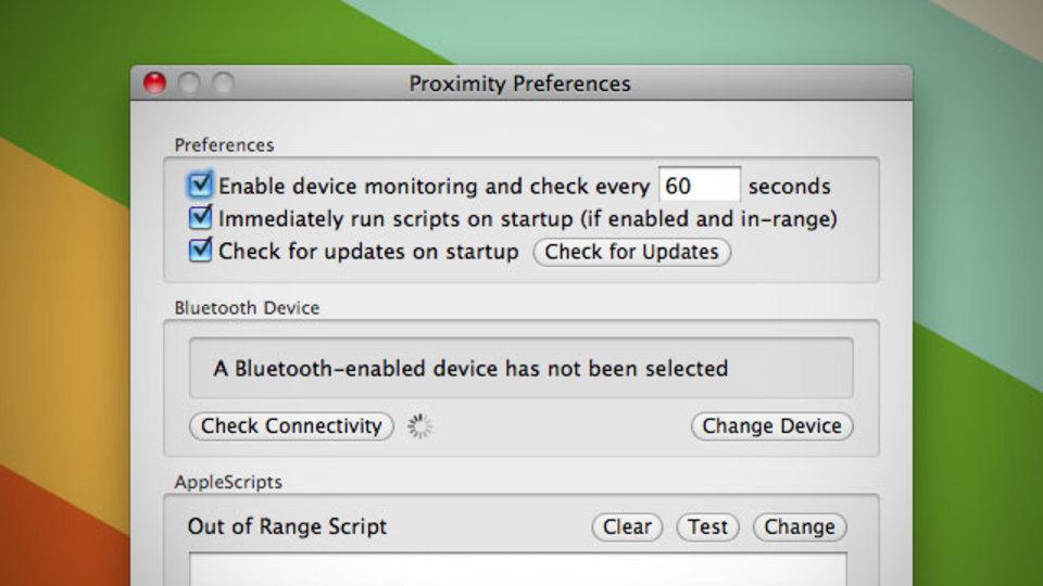 『Proximity』はBluetoothデバイスが範囲内に入った場合、範囲外に出た場合にユーザ定義のスクリプトを実行!