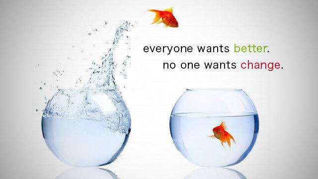 前向きないい変化を起こすには集中し、努力を続けることが必要