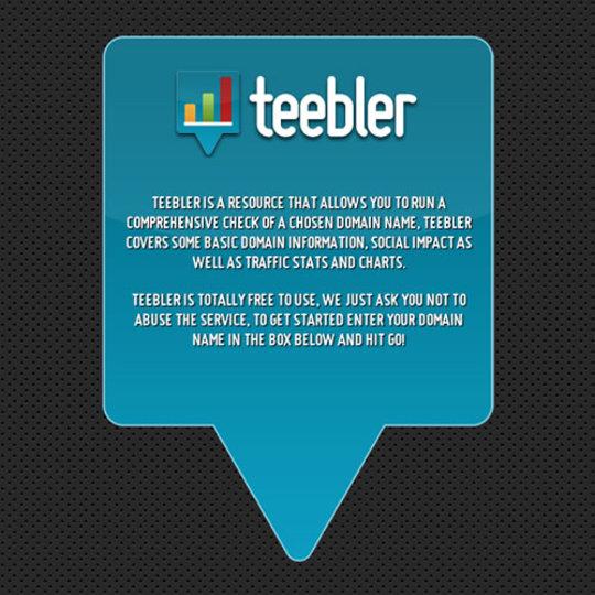 ウェブサイトの価値とステータスを解析できるサイト「Teebler」