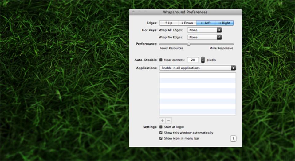 マウスカーソルを画面の端から逆の端へ瞬間移動できる『Wraparound』