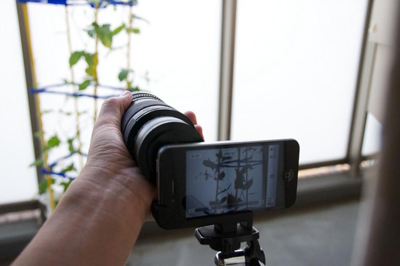 iPhone 4と一眼レンズを使って撮影してみた