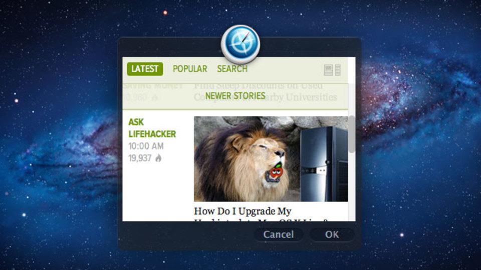 OS X Lionの『Automator』にデスクトップでWebアプリを開ける機能がビルトインされました!