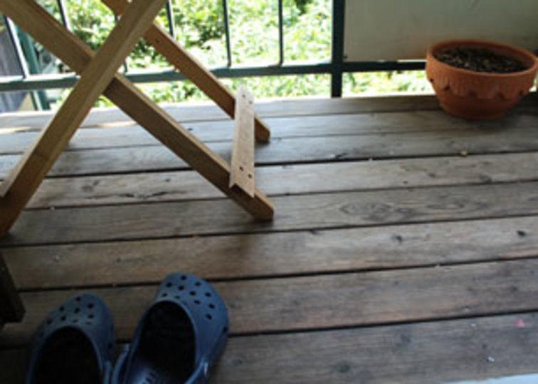 仕事帰りの部屋の暑さを解消! ウッドデッキで節電対策 #mylohas