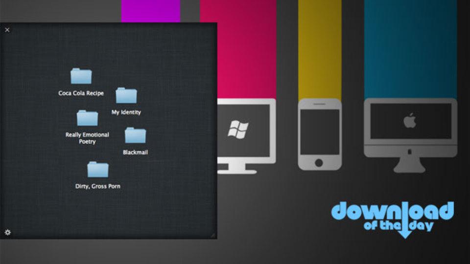 Macのデスクトップにパスワード保護された秘密の引き出しを作成する『Skedaddle』