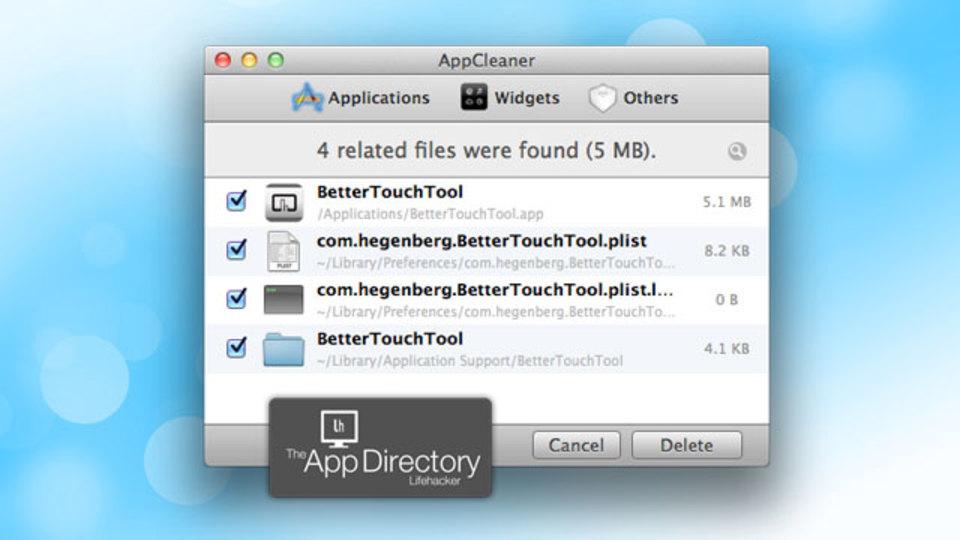 米LifehackerイチオシのMac用アンインストーラは無料の『AppCleaner』
