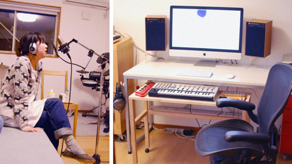 仕事場探訪:音楽ユニット「Lullatone」の自宅兼スタジオ
