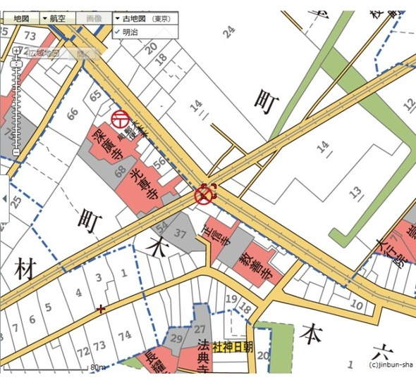 gooの「古地図機能」を使って、東京の今昔を比較してみませんか?