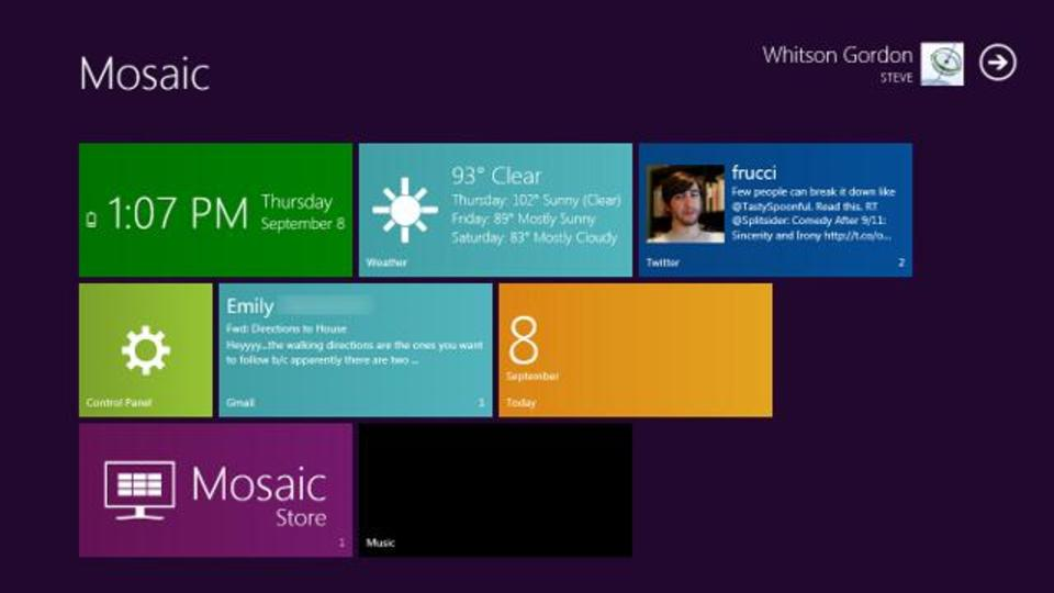 Windows 8 MetroのUIをWindows 7で利用できる『Mosaic』