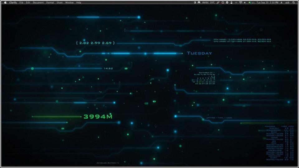 トロン風デスクトップ~究極のデスクトップを求めて