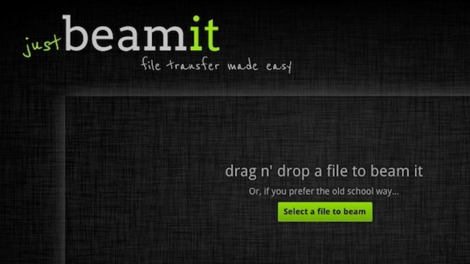「Justbeami」ならサイズの大きなファイルでもラクラク転送できちゃいます