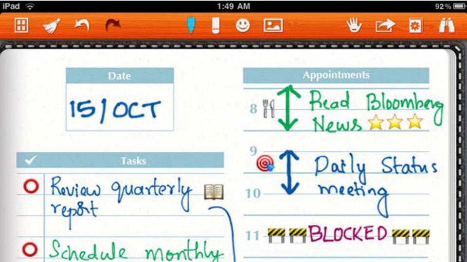 書き心地が良く、クラウド連携も可能なiPad用手書きノートアプリ「Noteshelf」