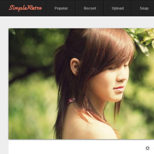 お気に入りの写真を簡単にレトロ風に加工できるサービス「SimpleRetro」