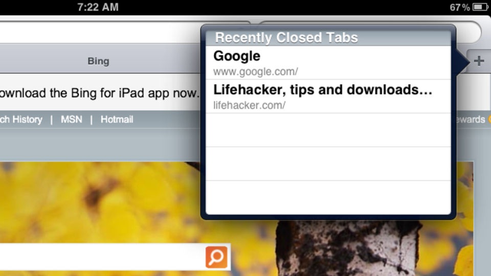 iPad用のSafariで間違って閉じてしまったタブを簡単に復元する方法!