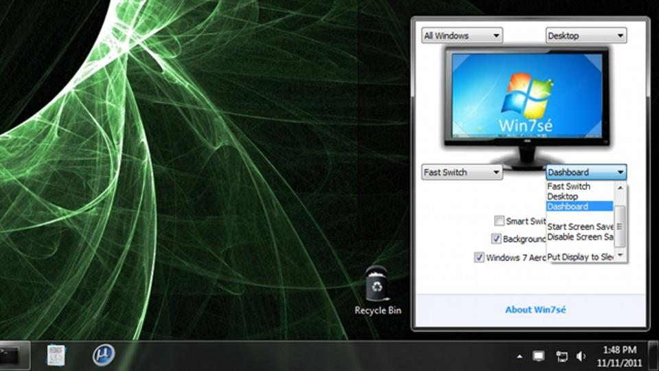 Mac独自の画面の角からアクションを実行できる機能をWindows 7で可能にしてくれる『Win7sé』