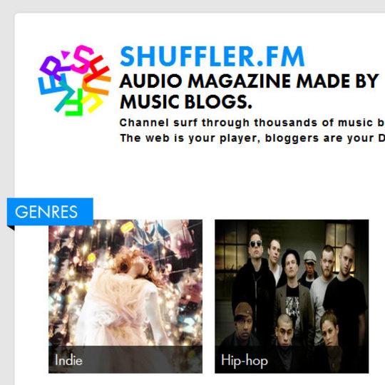 お好みのジャンルの音楽を次々と垂れ流せるサービス「Shuffler.fm」