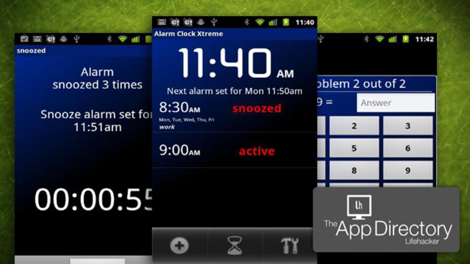 米LH編集部イチオシのAndroidの目覚まし時計アプリは『Alarm Clock XTreme』