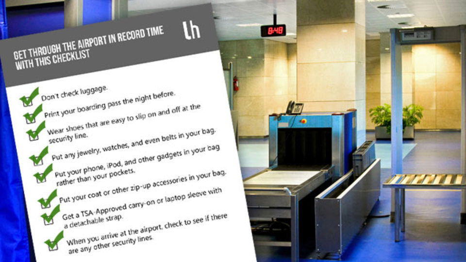 できるだけ効率よく空港のセキュリティーを通過するためのチェックリスト(PDFあり)