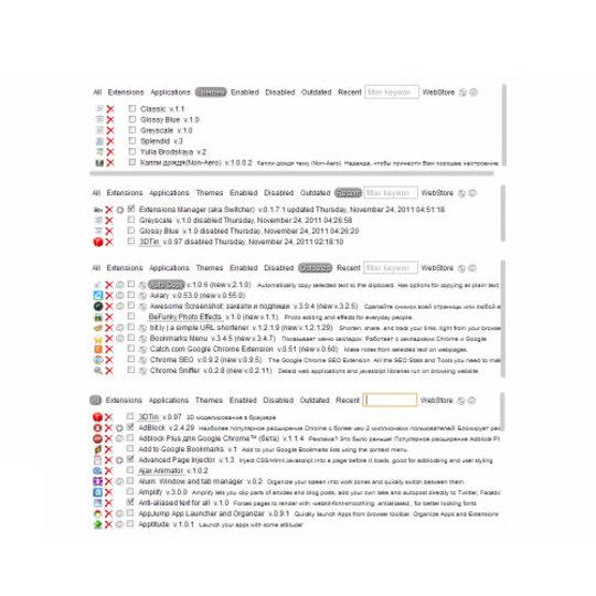 Chromeにインストールしている拡張機能を一括管理する拡張機能「Extensions Manager」