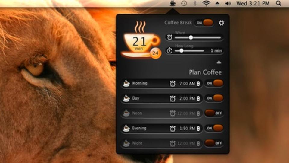 休憩時間になったらパソコン画面が暗くなるアプリ『Coffee Break』