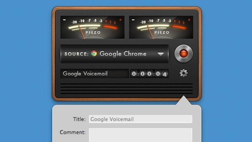 『Piezo』はMacのどのプログラムでも使える音声レコーダー