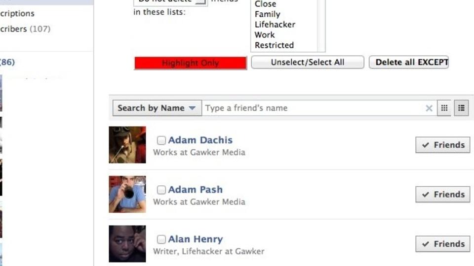 Facebookの複数の友達を「一括削除」する方法
