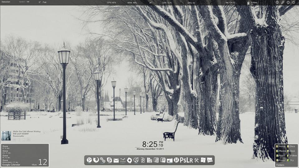 雪化粧デスクトップ~究極のデスクトップを求めて