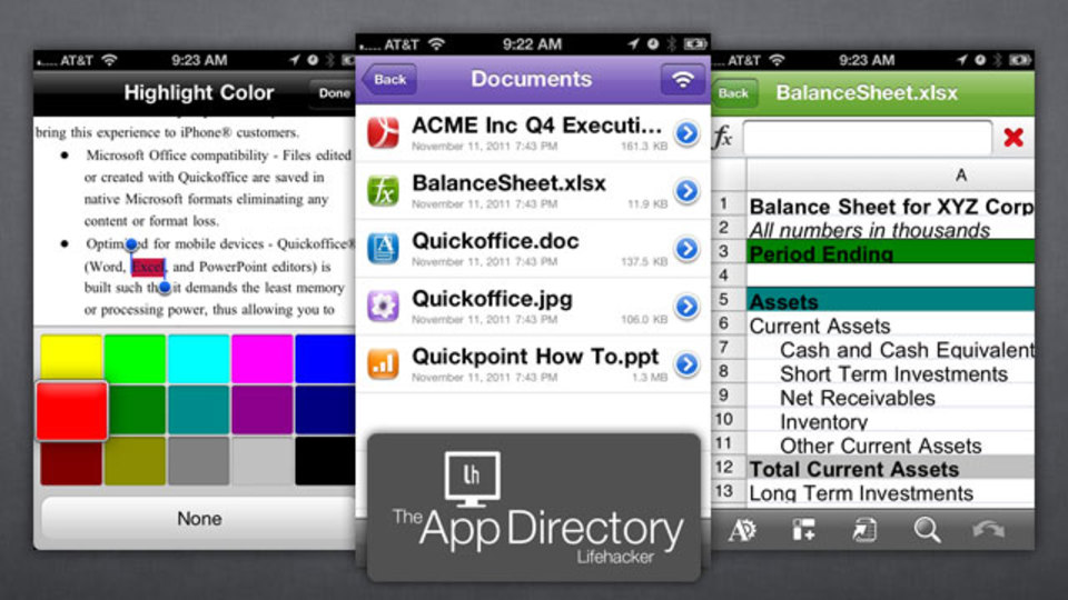 米LH編集部のイチオシのiPhone用Office系アプリセットは『QuickOffice Pro』