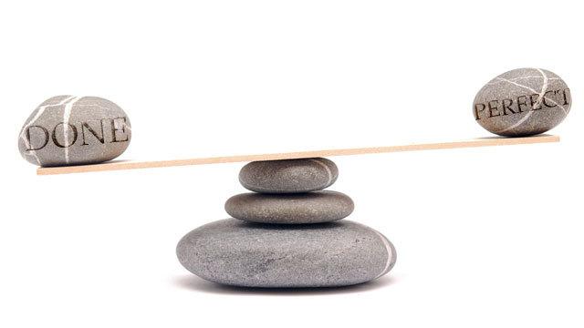 仕事は完ぺきであるよりも、最後までやり通すことの方が大事