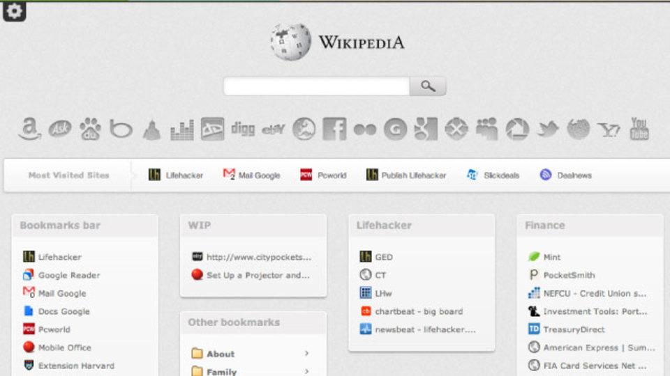 お気に入りのサイトや検索エンジンをChromeの新規タブページに追加できる「Bookolio」