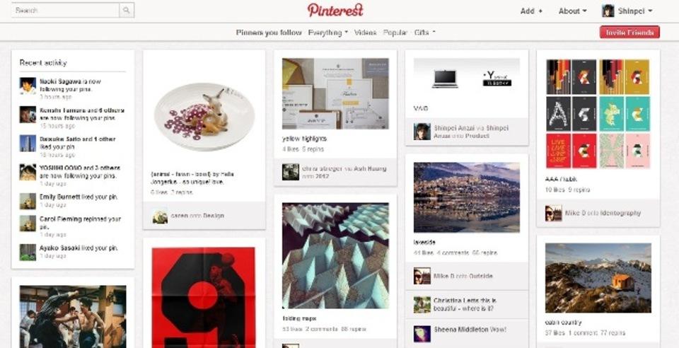 話題沸騰! 「Pinterest」の3つのソーシャルな遊びかた